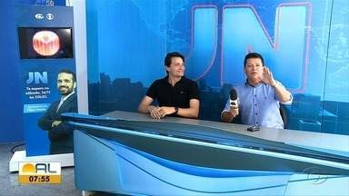 Filipe Toledo representa Alagoas no Jornal Nacional - Âncora do telejornal alagoano apresente neste sábado o Jornal Nacional.