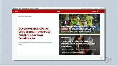 Confira os destaques de A Gazeta, de O Globo e do G1 nesta sexta-feira (15) - Veja o que é notícia nos principais portais.