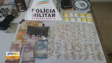 Três pessoas são presas com drogas e munições em Munhoz, MG - Três pessoas são presas com drogas e munições em Munhoz, MG