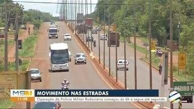 Operação da Polícia Militar Rodoviária nas rodovias estaduais começou às 6h - Operação da Polícia Militar Rodoviária nas rodovias estaduais começou às 6h