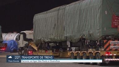 Operação é montada para transportar partes de um trem do Porto de Santos até Osasco - Veículo veio da China e vai rodar em uma linha entre São Paulo e o Aeroporto de Guarulhos.