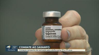 Campinas inicia nova etapa de vacinação contra o sarampo para jovens de 20 a 29 anos - Público-alvo deve procurar um dos 66 centros de saúde da cidade.