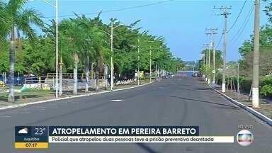 Policial que atropelou duas pessoas no interior tem prisão preventiva decretada - Caso foi no fim de semana em Pereira Barreto.