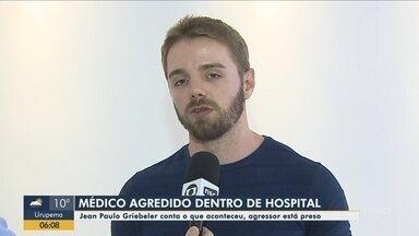 Médico relata agressão sofrida por homem em hospital de Itajaí - Médico relata agressão sofrida por homem em hospital de Itajaí