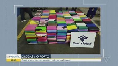 Receita Federal localiza cocaína no Porto de Santos - Droga embarcada teria Espanha como destino.