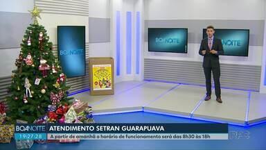 Setran de Guarapuava passa a atender também no horário de almoço - A partir de quarta (20) o horário de funcionamento será das 8h30 às 18h.