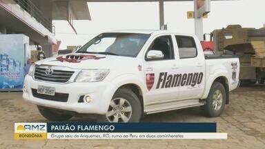 Grupo de amigos pega a estrada para assistir final da Libertadores - Grupo saiu de Ariquemes em duas caminhonetes.