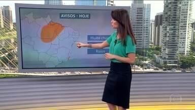 Veja a previsão do tempo para esta quinta-feira (21) em todo o país - Continua o risco de temporais para Espírito Santo; em Vitória deve chover 70 mm. Tem previsão de chuva forte também para Mato Grosso, Tocantins, Pará e Maranhão. Tempo firme no Nordeste.