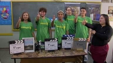 Estudantes criam filmes com tecnologia 360° e ganham prêmios - Alunos da rede pública de Campo Grande são os personagens do quadro Aluno Nota 11.