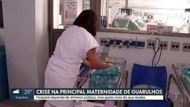 Maior maternidade de Guarulhos está em crise e tem rombo mensal de R$ 350 mil nas contas - Segundo o hospital, a demanda aumentou nos últimos anos, mas o dinheiro não. A unidade apresenta rombo mensal de R$ 350 mil.