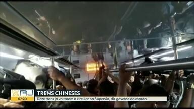 Doze dos 40 trens da Supervia voltaram a circular - Defensoria vai se reunir com Supervia para chegar a acordo.