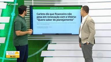 Carleto fala sobre renovação de contrato com o Vitória para temporada de 2020 - Clube desembarcou em Salvador na quarta-feira (20). Último jogo do clube foi contra o Operário-PR, que resultou em 2 x 1 e garantiu permanência do clube na Série B.