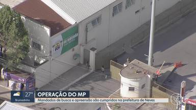MP faz operação na Prefeitura de Ribeirão das Neves - Ordens de busca e apreensão também foram cumpridas em empresas e nas casas de investigados, que estariam envolvidos em crimes de fraudes à licitação. Prejuízo ultrapassaria os R$4 milhões.