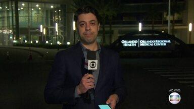 Gugu Liberato morreu nesta sexta (22), nos Estados Unidos - O apresentador estava internado a dois dias depois de um acidente doméstico. O repórter Tiago Eltz traz as informações de Orlando, na Flórida.