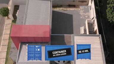 Esquece o cimento! Moradores da região investem em casas de container... e fica bonito! - Confira a reportagem.