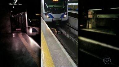 Homem que sobreviveu a queda nos trilhos do metrô de SP diz: 'Um milagre' - Eliseu encontrou pela primeira vez com Amanda, maquinista que conseguiu frear e salvá-lo. Ele acredita ter sido dopado. Imagens do incidente viralizaram na internet.