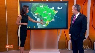 Meteorologia alerta para risco de temporais no Recôncavo Baiano nesta segunda-feira - Previsão é de chuva forte também em Goiás, Distrito Federal, sul da Bahia, Maranhão e no Piauí.