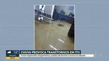 Chuva forte atinge Itu, no interior do estado - Cidade registrou alagamentos, quedas e árvores e muros no sábado