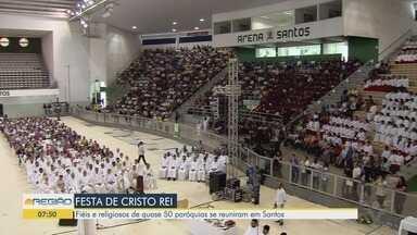 Festa de Cristo Rei reúne religiosos em mais de 50 paróquias da região - Evento religioso aconteceu no último domingo (24).