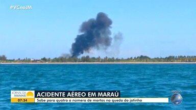 Morre mais uma vítima de acidente aéreo ocorrido em Maraú, no sul da Bahia - Queda do jatinho provocou a morte de quatro pessoas, entre eles um piloto da Stock Car.