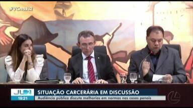 Situação carcerária no Pará é tema de audiência na Alepa - Um dos objetos da discussão é estabelecer melhorias nas normas das casas penais.