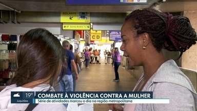 Dia internacional de combate à violência contra a mulher tem atividades de conscientização - A Secretaria de Segurança Pública de São Paulo também aumentou o número de delegacias da mulher abertas 24hs por dia e 54 autores de feminicídio foram presos entre janeiro e setembro de 2019.