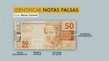 Saiba como identificar cédulas falsas - Até outubro, Banco Central identificou 1529 notas falsas no Amazonas.