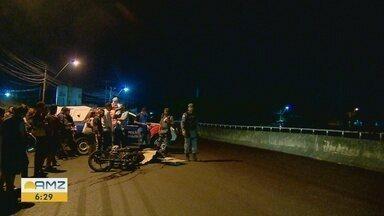 Homem morre após colisão entre duas motos, em Manaus - Acidente foi na avenida Abiurana no Distrito Industrial 1.
