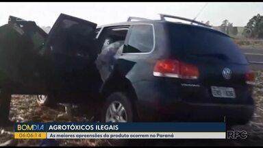 Contrabando de agrotóxicos preocupa as autoridades paranaenses - O Paraná é um dos estados com maior número de apreensões do produto.