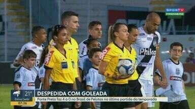 Ponte Preta faz 4 a 0 no Brasil de Pelotas na última partida da temporada - Após 10 jogos sem vencer, a Macaca se despediu da temporada de 2019 com goleada.