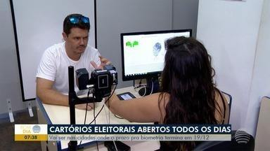 Cartórios eleitorais abrem aos sábados e domingos para cadastro de biometria - Plantão será realizado até o dia 19 de dezembro.