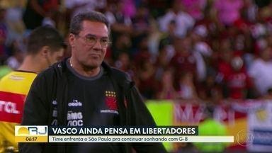 Vasco não desiste da Libertadores - Time enfrenta o São Paulo fora de casa mas acredita em vitória para continuar sonhando com vaga no G-8.