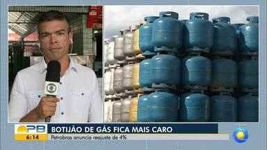 Preço do gás de cozinha sofre aumento e pode custar até R$ 78, na Paraíba, diz sindicato - Produto será vendido por, no mínimo, R$ 73 a partir desta quarta-feira (27).