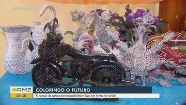 Oficinas de artesanato qualificam moradores da Baixada Pará, na periferia de Macapá - Projeto Colorindo o Futuro é promovido pelo Ministério Público do Amapá (MP-AP).