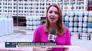 Petrobrás faz reajuste de 4% no gás de cozinha - Aumento nas revendedoras é repassado aos consumidores.