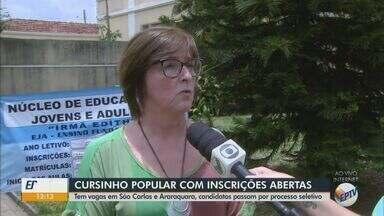 Cursinhos populares de São Carlos e Araraquara estão com inscrições abertas - Os candidatos passam por processo seletivo.