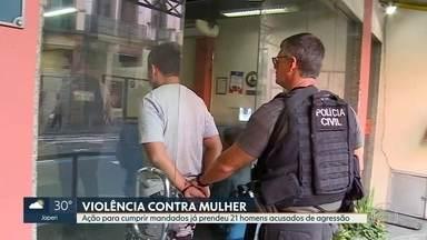 Vinte e um homens acusados de agressão contra mulheres são presos no Rio - Ao todo, foram expedidos 36 mandados de prisão e 14 de busca e apreensão só no estado do Rio.