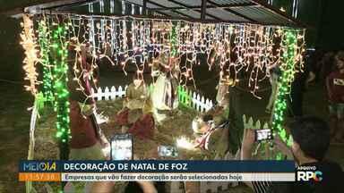 Empresas que vão fazer decoração de natal em Foz serão selecionadas hoje - O Observatório Social está acompanhando esse processo da decoração da cidade.