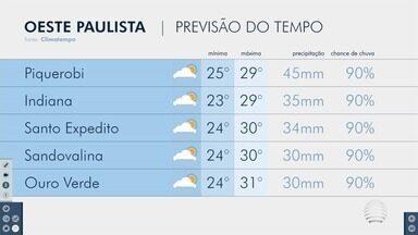 Simone Gomes traz os detalhes da previsão do tempo no Oeste Paulista - Veja como ficam as temperaturas na região de Presidente Prudente.