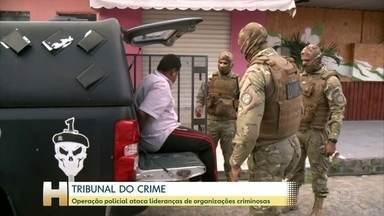 Operação policial cumpre mais de 100 mandatos de prisão em oito estados - As prisões estão sendo realizadas em oito estados: Alagoas, Mato Grosso do Sul, Minas Gerais, Paraná, Pernambuco, São Paulo, Tocantins e Sergipe.