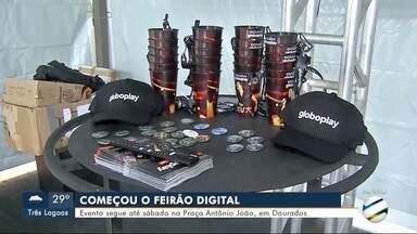 Começou o Feirão Digital em Dourados - Evento segue até sábado na Praça Antônio João, em Dourados.