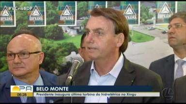Presidente Jair Bolsonaro inaugura última turbina da usina de Belo Monte - undefined