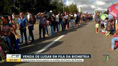 Duas pessoas são presas vendendo senha em fila para cadastro biométrico - Saiba mais em g1.com.br/ce