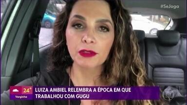 Luiza Ambiel relembra época em que trabalhou com Gugu - A caminho do velório do apresentador, modelo manda mensagem para o 'Se Joga'