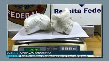 Polícia Federal faz operação contra o tráfico de drogas em Foz do Iguaçu - Quadrilha atuava no Aeroporto e aliciava funcionários de companhia aérea.