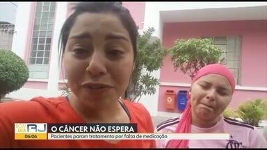 Mulher faz apelo por medicação para irmã, que sofre de câncer - O Hospital Federal do Andaraí está sem a medicação e não há prazo para normalização.