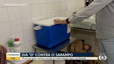 Goiânia realiza mais um 'Dia D' de vacinação contra o sarampo - Procura pela vacina ainda é pequena na cidade.