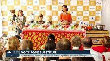 Apresentadora Bela Gil participa do festival AgroSerra - Evento acontece em Nova Friburgo.