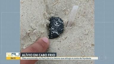 Material encontrado no Peró não é óleo do NE - Resultado do exame traz um pouco de alívio à população.