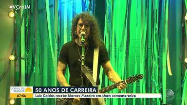 Luiz Caldas recebe Moraes Moreira e celebra 50 anos de carreira com super show em Salvador - Evento aconteceu no domingo (1), no bairro Santo Antônio Além do Carmo.